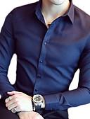 billige Eksotisk herreundertøy-Skjorte Herre - Ensfarget Grunnleggende