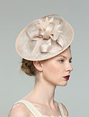 cheap Mother of the Bride Dresses-Flax Fascinators with Solid 1pc Wedding / Special Occasion Headpiece