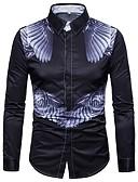 cheap Men's Tees & Tank Tops-Men's Plus Size Shirt - Geometric / Long Sleeve