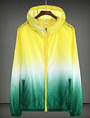 cheap Quartz Watches-Men's / Women's Sports Regular Jacket, Color Block Hooded Long Sleeve Acrylic Orange / Pink / Yellow XXL / XXXL / 4XL