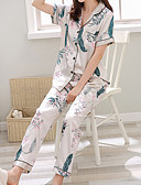 cheap Robes & Sleepwear-Women's Square Neck Suits Pajamas Geometric