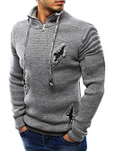 cheap Men's Shirts-Men's Basic Pullover - Solid Colored, Hole