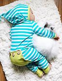 お買い得  男の子用 赤ちゃん ロンパース&カバーオール-赤ちゃん 男の子 活発的 / ベーシック 日常 ストライプ 縞柄 長袖 コットン ワンピース ブルー
