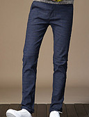 ieftine Pantaloni Bărbați si Pantaloni Scurți-Bărbați Bumbac Pantaloni Chinos Pantaloni Plisat