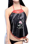 cheap Women's Nightwear-Women's Satin & Silk Nightwear - Backless, Embroidered
