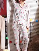 ieftine Robe & Pijamale-Pentru femei Pătrat Costume Pijamale Geometric