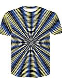baratos Pólos Masculinas-Homens Camiseta Básico / Moda de Rua Estampado, Estampa Colorida Preto & Branco