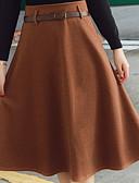 tanie Damska spódnica-wełniana damska spódnica do kolan - jednolity kolor