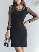 tanie Sukienki-Damskie Wyrafinowany styl Linia A Sukienka - Solidne kolory, Z marszczeniami Nad kolano