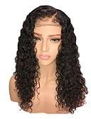 hesapli Gece Elbiseleri-Sentetik Peruklar / Sentetik Dantel Ön Peruk Bukle Katmanlı Saç Kesimi / Yan parça Sentetik Saç 18 inç Bebek Saçlı / Ayarlanabilir / Doğal saç çizgisi Siyah Peruk Kadın's Şort Ön Dantel Siyah / Evet
