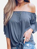 ieftine Bluză-Pentru femei Bluză De Bază - Mată