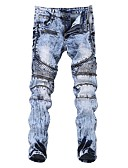 ieftine Pantaloni Bărbați si Pantaloni Scurți-Bărbați Punk & Gotic Blugi Pantaloni Mată
