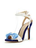 ieftine Tricou-Pentru femei Pantofi cu tocuri îndoite Sintetice Primavara vara Sandale Toc Stilat Vârf deschis Alb / Rosu / Nuntă / Party & Seară