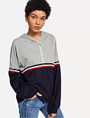 ieftine Tricou-Pentru femei Tricou Ieșire Bloc Culoare