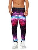 ieftine Pantaloni Bărbați si Pantaloni Scurți-Bărbați Șic Stradă / Exagerat Pantaloni Chinos / Pantaloni Sport Pantaloni Galaxie / Animal