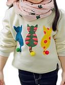 povoljno Džemperi i kardigani za djevojčice-Djeca Djevojčice Osnovni Dnevno Mačka Jednobojni Print Dugih rukava Regularna Džemper i kardigan Obala