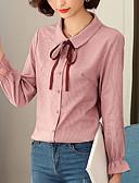 tanie T-shirt-Koszula Damskie Podstawowy / Moda miejska, Wiązanie Solidne kolory
