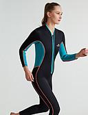 ieftine Lenjerie la Modă-Pentru femei Neopren Întreg 3mm Costume de scafandru Manșon Lung Fermoar Față Mată Toamnă / Primăvară / Vară