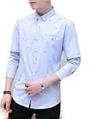 זול חולצות לגברים-גברים יוצאים חולצה - צווארון צבעוני מוצק