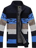 זול סוודרים וקרדיגנים לגברים-מבוגרים XL / XXL / XXXL כתום / אודם / אפור בהיר צווארון עגול קצר פוליאסטר, קרדיגן רגיל רגיל שרוול ארוך אחיד יומי בגדי ריקוד גברים