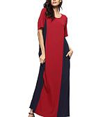 tanie Sukienki w rozmiarach plus-Damskie Podstawowy Spodnie - Kolorowy blok Czerwony / Maxi