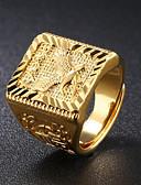 رخيصةأون ساعات جيش-رجالي ستايل خاتم - 18K الذهب إيجال موضة قابل للتعديل ذهبي من أجل مناسب للبس اليومي حفلة ليلية