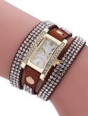 ieftine Quartz-Pentru femei Ceas Brățară Quartz Model nou Ceas Casual imitație de diamant PU Bandă Analog Casual Modă Negru / Alb / Albastru - Rosu Albastru Roz Un an Durată de Viaţă Baterie