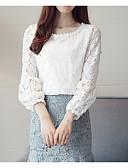 abordables Jerséis de Mujer-blusa para mujer que sale - cuello redondo de color sólido