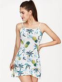 levne Dámské šaty-Dámské Základní Štíhlý A Line Šaty - Ovoce, Tisk Nad kolena Ramínka Ananas / Sexy