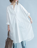 cheap Women's Dresses-Women's Basic Loose Tunic Dress - Solid Colored White V Neck
