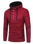 cheap Men's Sweaters & Cardigans-Men's Daily Color Block Long Sleeve Slim Long Cardigan, V Neck Black / Gray / Wine XL / XXL / XXXL