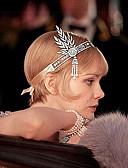 cheap Party Dresses-The Great Gatsby Pendant 1920s Roaring Twenties Costume Women's Flapper Headband Headwear Black / Silver / Golden Vintage Cosplay Rhinestone Chrome Party Prom / Tassel / Leaf