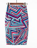 tanie Damska spódnica-Damskie Podstawowy Bodycon Spódnice Geometric Shape / Kolorowy blok