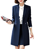 cheap Women's Coats & Trench Coats-Women's Work Blazer-Solid Colored
