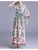 رخيصةأون فساتين للنساء-فستان نسائي ثوب ضيق / جلابية طويل للأرض شاطئ
