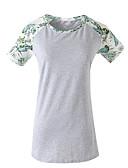 ieftine Tricou-Pentru femei Tricou De Bază - Mată / Bloc Culoare Peteci / Imprimeu