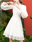 זול תחרה רומטנית-צווארון עגול קצר מעל הברך שמלה נדן רזה ליציאה בגדי ריקוד נשים