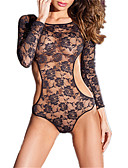 cheap Women's Jumpsuits & Rompers-Women's Suits Nightwear - Lace / Mesh Jacquard