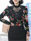 cheap Women's Coats & Trench Coats-women's slim t-shirt - floral crew neck