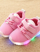 cheap Ice Skating Dresses , Pants & Jackets-Boys' / Girls' Shoes Mesh Spring &  Fall Comfort / Light Up Shoes Sneakers Hook & Loop / LED for Kids / Toddler White / Black / Pink
