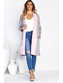 baratos Casacos e Capas de Chuva-Mulheres Jacket kimono Básico - Sólido Patchwork