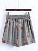 ieftine Pantaloni de Damă-Pentru femei De Bază Pantaloni Scurți Pantaloni Floral