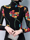 voordelige Damesjacks-Dames T-shirt Katoen Effen / Bloemen