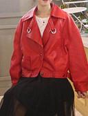 abordables Blazers y Chaquetas de Mujer-Mujer Chaqueta Un Color Ajuste de encaje