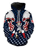 cheap Men's Tees & Tank Tops-Men's Sports Long Sleeve Loose Hoodie - Portrait Hooded Navy Blue XL