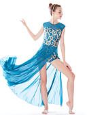 hesapli Göbek Dansı Giysileri-Bale Elbiseler Kadın's Performans Elastik / Mayo Kumaşı / Likra Payet Doğal Saç Mücevheri / Elbise