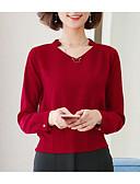 ieftine Bluză-Pentru femei În V Bluză Ieșire Mată