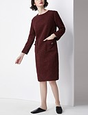 cheap Women's Swimwear & Bikinis-Women's Daily Basic Slim A Line Dress - Solid Colored Split Fall Wine M L XL