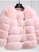 billige Kvinner Fur & Faux Fur Coats-Pelskåpe - Ensfarget Sofistikert Dame