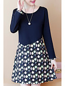 povoljno Ženske haljine-Žene Ležerne prilike Veći konfekcijski brojevi Hlače - Na točkice Print Navy Plava